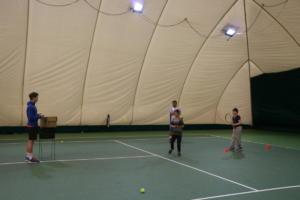 Тренировки по большому теннису для детей