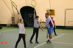 Занятия большим теннисом для детей